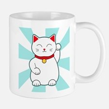 White Lucky Cat Mugs