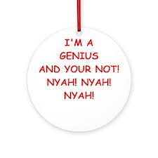 genius Ornament (Round)
