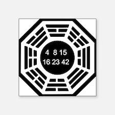 """Cute 4 8 15 16 23 42 Square Sticker 3"""" x 3"""""""