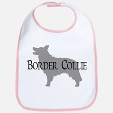 Border Collie #2 Fancy Text Bib