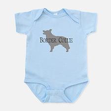 Border Collie #2 Fancy Text Infant Bodysuit