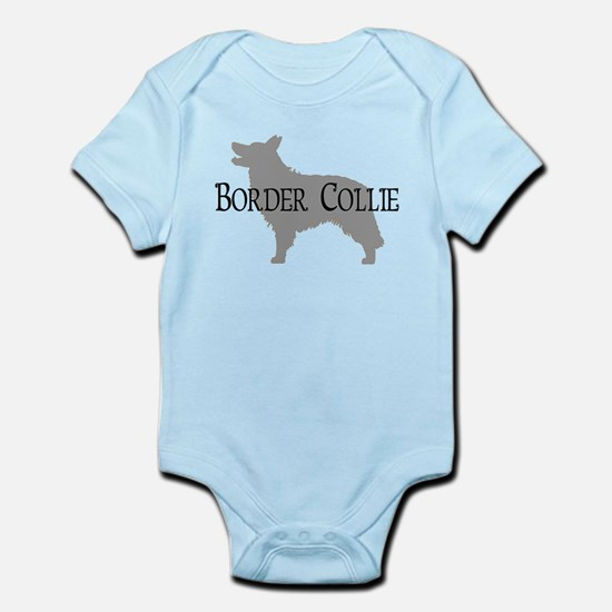 Border Collie #2 Fancy Text Infant Bodysuit
