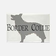 Border Collie #2 Fancy Text Rectangle Magnet