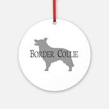 Border Collie #2 Fancy Text Ornament (Round)
