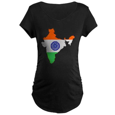 """Pixel India"" Maternity Dark T-Shirt"