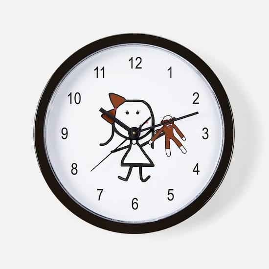 Girl & Monkey Wall Clock