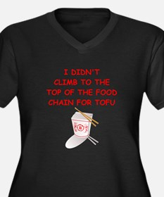 food chain Women's Plus Size V-Neck Dark T-Shirt