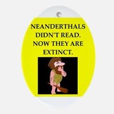 neanderthal Ornament (Oval)