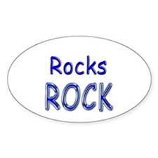 Rocks Rock Oval Decal