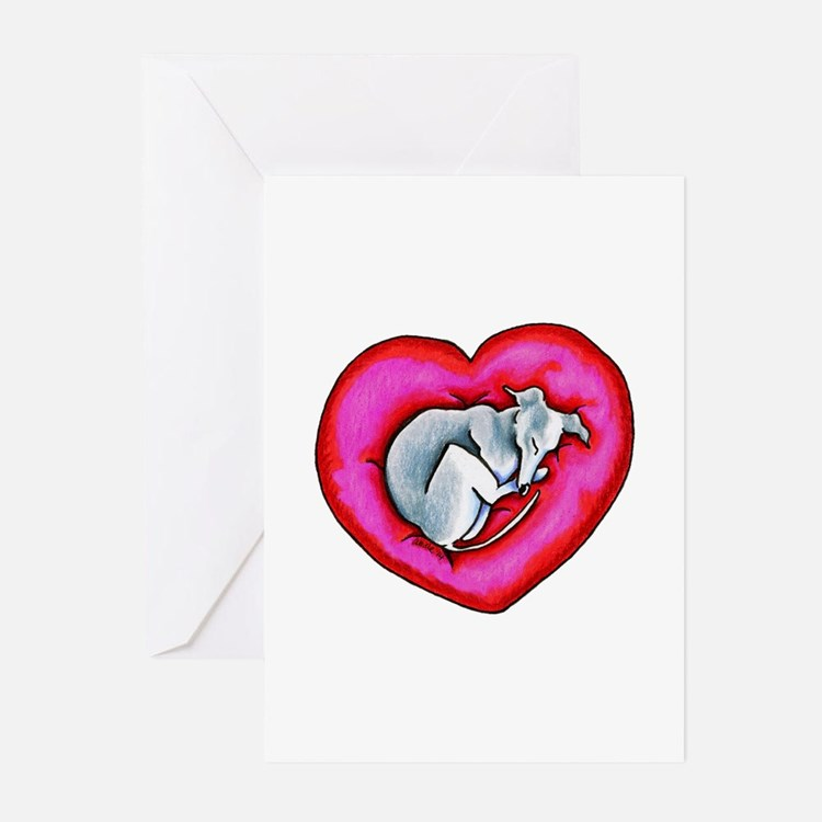 Grey Snuggle Bug Greeting Cards