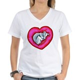 Greyhound Womens V-Neck T-shirts