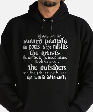 Blessed are the Weird Hoodie (dark)
