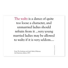 Waltz is a dance Postcards (Package of 8)