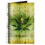 Marijuana leaf Journals & Spiral Notebooks