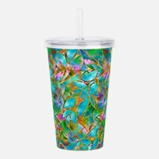 Floral Stained Glass 1 Acrylic Double-wall Tumbler