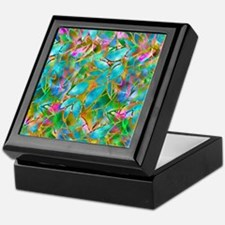 Floral Stained Glass 1 Keepsake Box