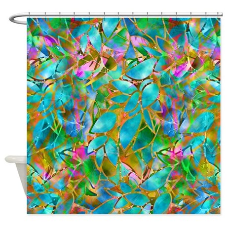 Floral Stained Glass 1 Shower Curtain By Medusa81
