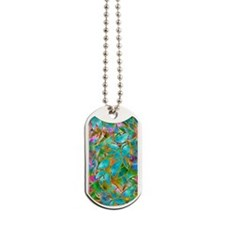 Floral Stained Glass 1 Dog Tags