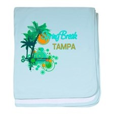 Palm Trees Circles Spring BreakTAMPA baby blanket