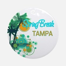 Palm Trees Circles Spring BreakT Ornament (Round)
