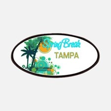 Palm Trees Circles Spring BreakTAMPA Patches