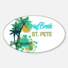 Palm Trees Circles Spring Break ST PETE Decal