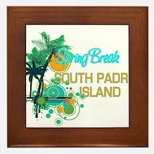 Palm Trees Circles Spring Break SOUTH Framed Tile