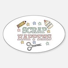Scrap Happens Oval Decal