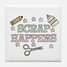 Scrap Happens Tile Coaster