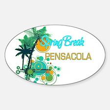 Palm Trees Circles Spring Break PENSACOLA Decal