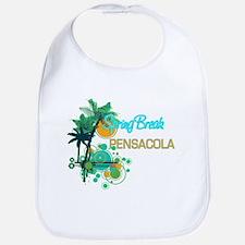 Palm Trees Circles Spring Break PENSACOLA Bib