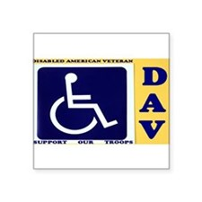 "Cute Disabled Square Sticker 3"" x 3"""