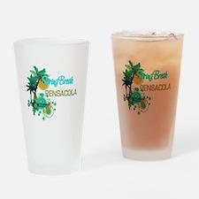 Palm Trees Circles Spring Break PE Drinking Glass