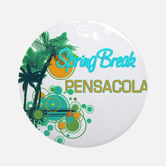 Palm Trees Circles Spring Break Ornament (Round)