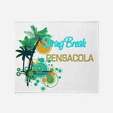 Palm Trees Circles Spring Break PEN Throw Blanket