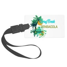 Palm Trees Circles Spring Break Luggage Tag