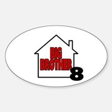 Big Brother 8 Oval Decal