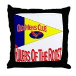 Old Mens Club Throw Pillow