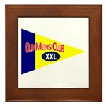 Old Mens Club Framed Tile