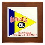 Old Mens Club Framed Tile