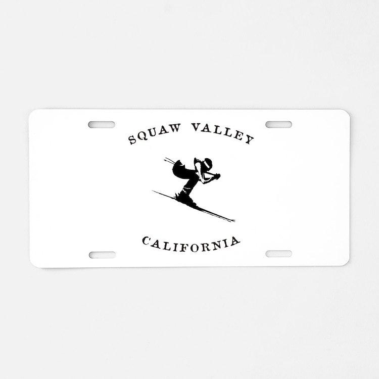 Squaw Valley California Ski Aluminum License Plate