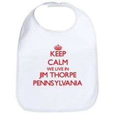 Keep calm we live in Jim Thorpe Pennsylvania Bib