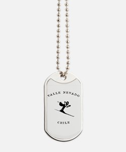 Valle Nevado Chile Ski Dog Tags