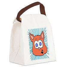 Orange Cat graphic Canvas Lunch Bag