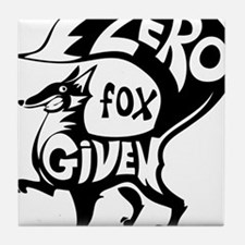 Zero Fox Given Tile Coaster