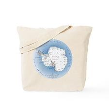 Map Antarctica Tote Bag