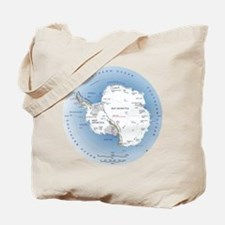 Map Antarctica Tote Bag