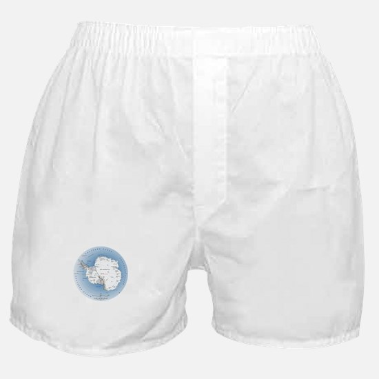 Map Antarctica Boxer Shorts