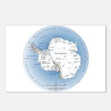 Map Antarctica Postcards (Package of 8)