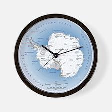 Map Antarctica Wall Clock